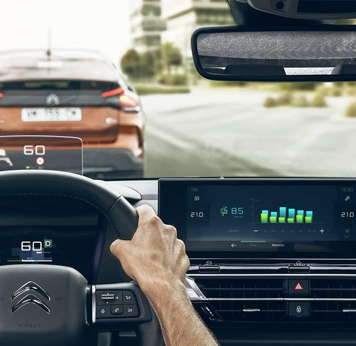 autonomie de la berline familiale électrique Citroën Ë-C4 Drôme - Ardèche