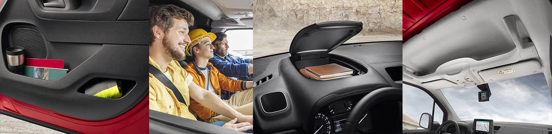 découvrir tout le confort à bord du berlingo van de chez Citroën, rangements, confort de sièges.