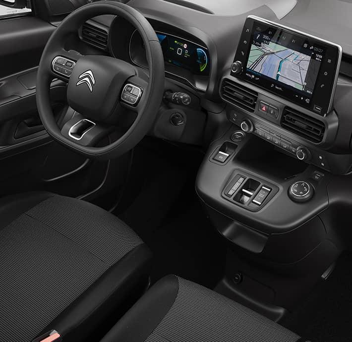 technologie de connectivités sur l'utilitaire électrique Citroën Ë-Berlingo Van en Drôme et en Ardèche