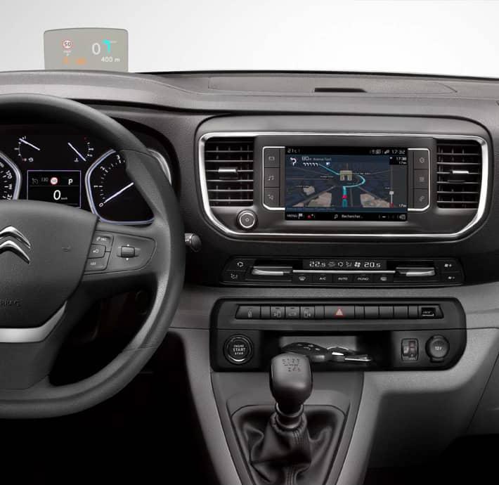 technologie connectée sur l'utilitaire Citroën Jumpy Drôme Ardèche