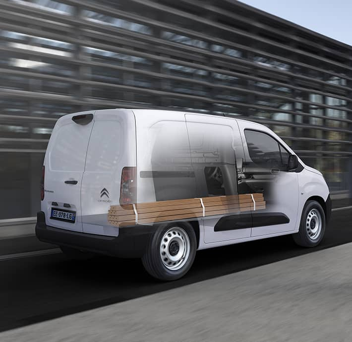 modularité du fourgon electrique Citroën Ë-Berlingo Van à Valence-Romans