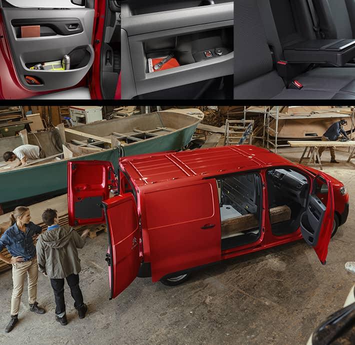 modularité de l'utilitaire Citroën Jumpy, rangement et fonctionnalité à Valence Romans