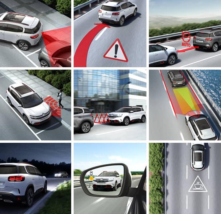 La technologie du SUV Citroën C5 Aircross à Valence - Romans avec 20 aides à la conduite