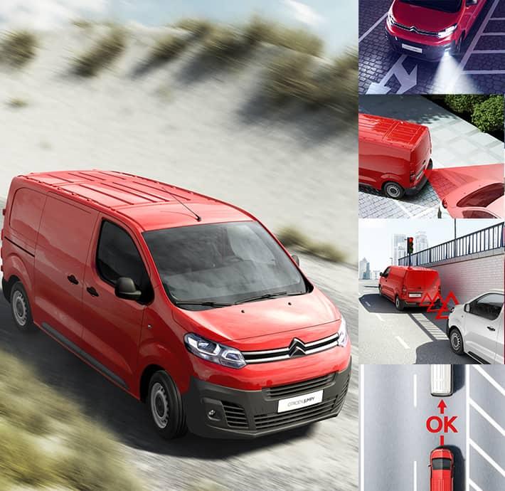 aides à la conduite sur l'utilitaire Citroën Jumpy en Drôme et en Ardèche