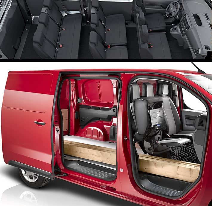 utilitaire fourgonnette personnalisable avec plusieurs versions : cabine, modularité supplémentaire à Valence romans en Drôme et en Ardèche