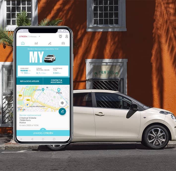 Je géolocalise ma voiture avec mon Application My Citroën en Drôme et en Ardèche