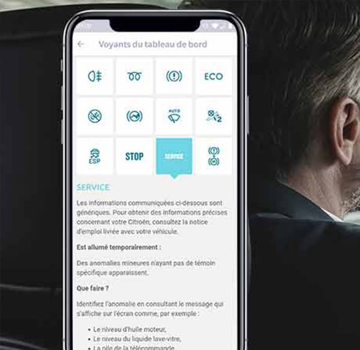 Trouver les documents de bord, vérifier les différents voyant de ma voiture à partir de l'application My Citroën en Drôme et en Ardèche
