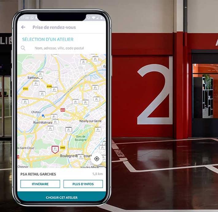 Trouver son garage pour prendre rendez-vous sur l'application My Citroën en Drôme et en Ardèche