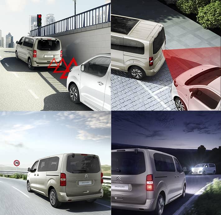 technologies d'aide à la conduite sur le van familial Citroën Spacetourer en Drôme et en Ardèche